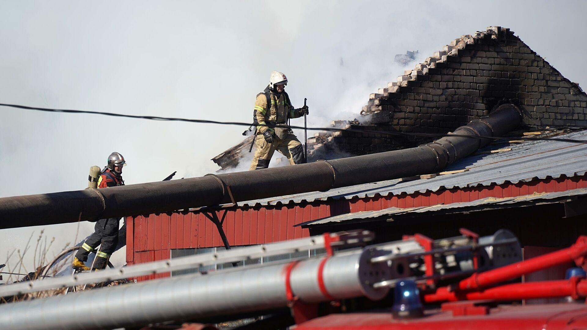 Пожарные ликвидировали возгорание в городе Шилка