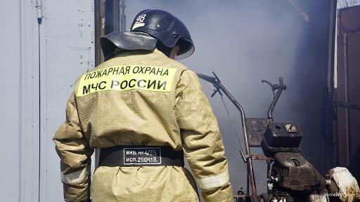 Меньше трех минут понадобилось огнеборцам Краснокаменска что бы потушить мопед